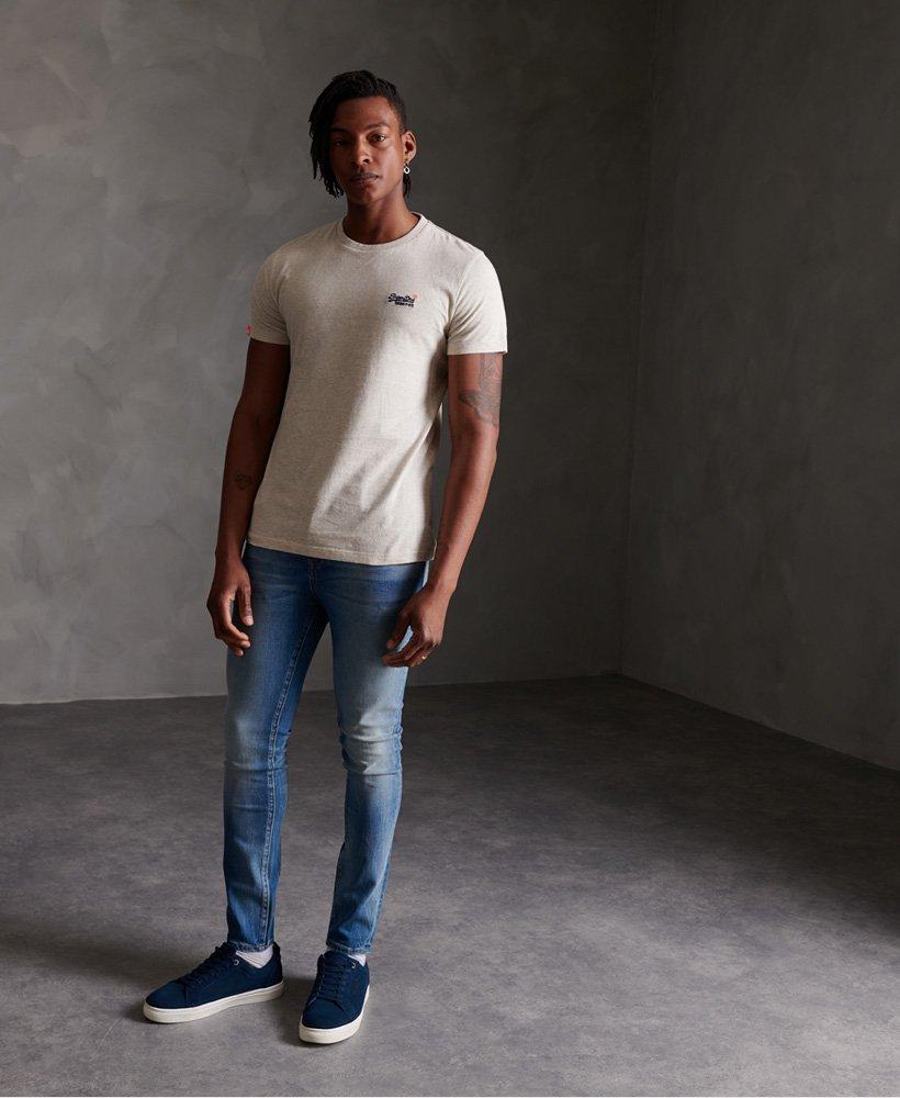 Mens Superdry Orange Label Vintage Embroidery T Shirt Shamrock Green Grit