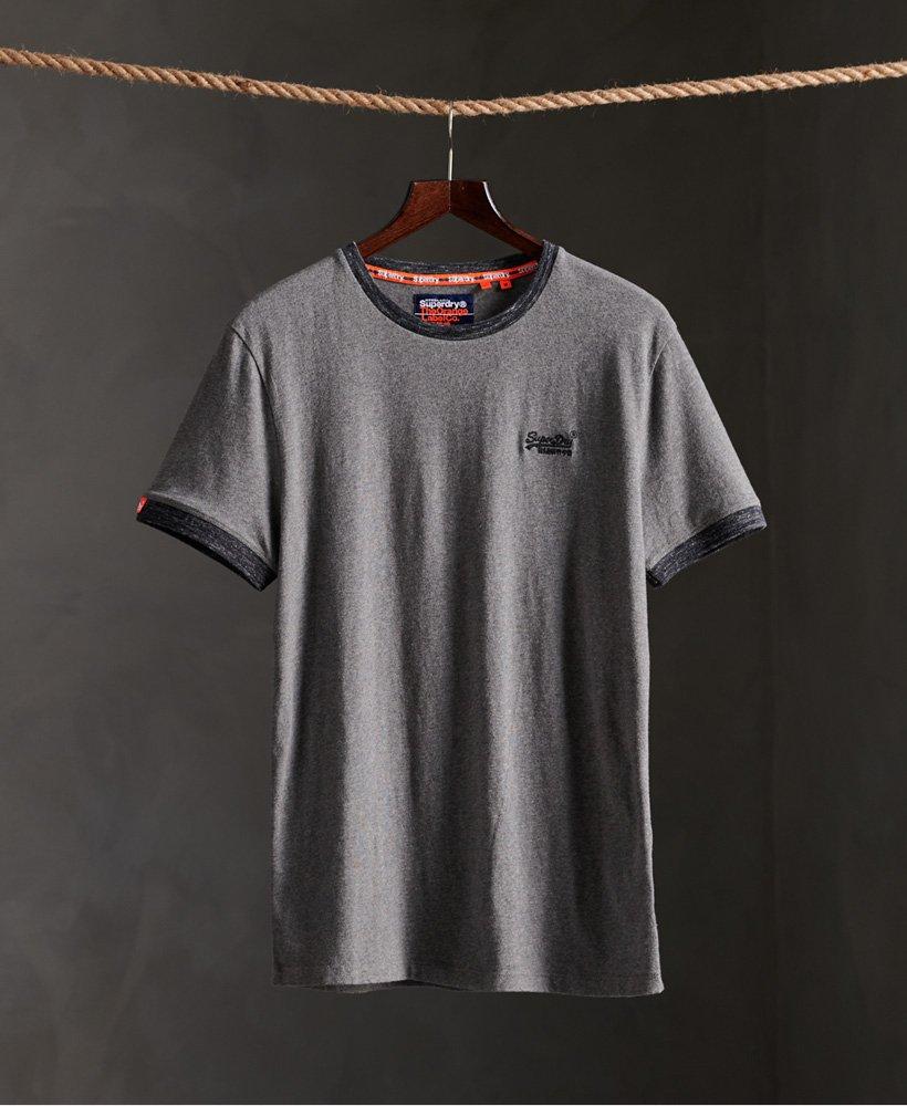 Superdry Ringer T skjorte i økologisk bomull Herre T skjorter