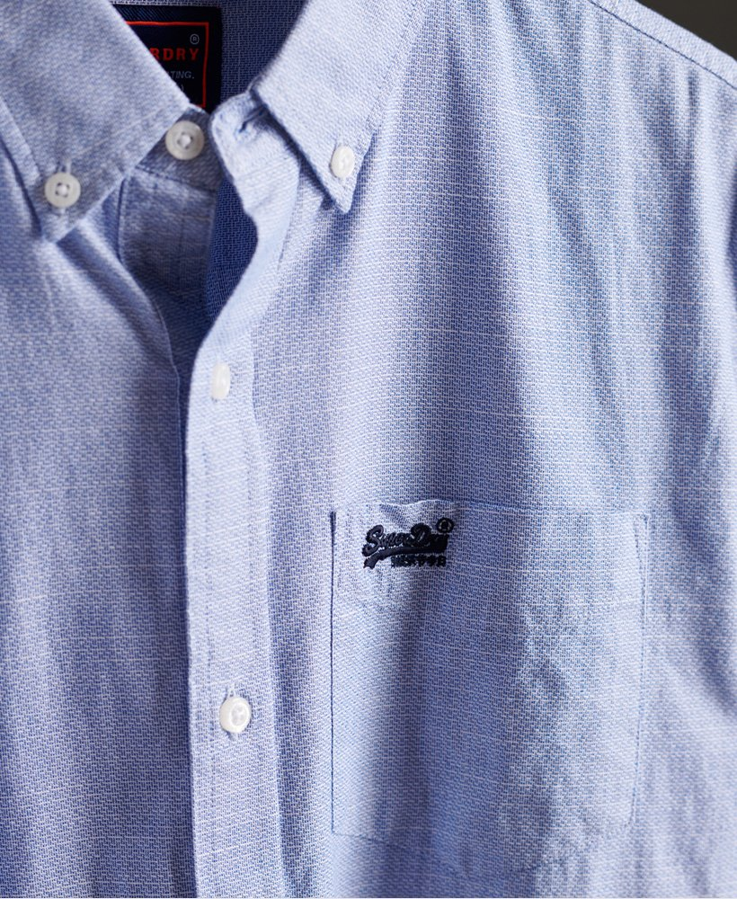 Superdry Mens Classic University Oxford Long Sleeve Shirt