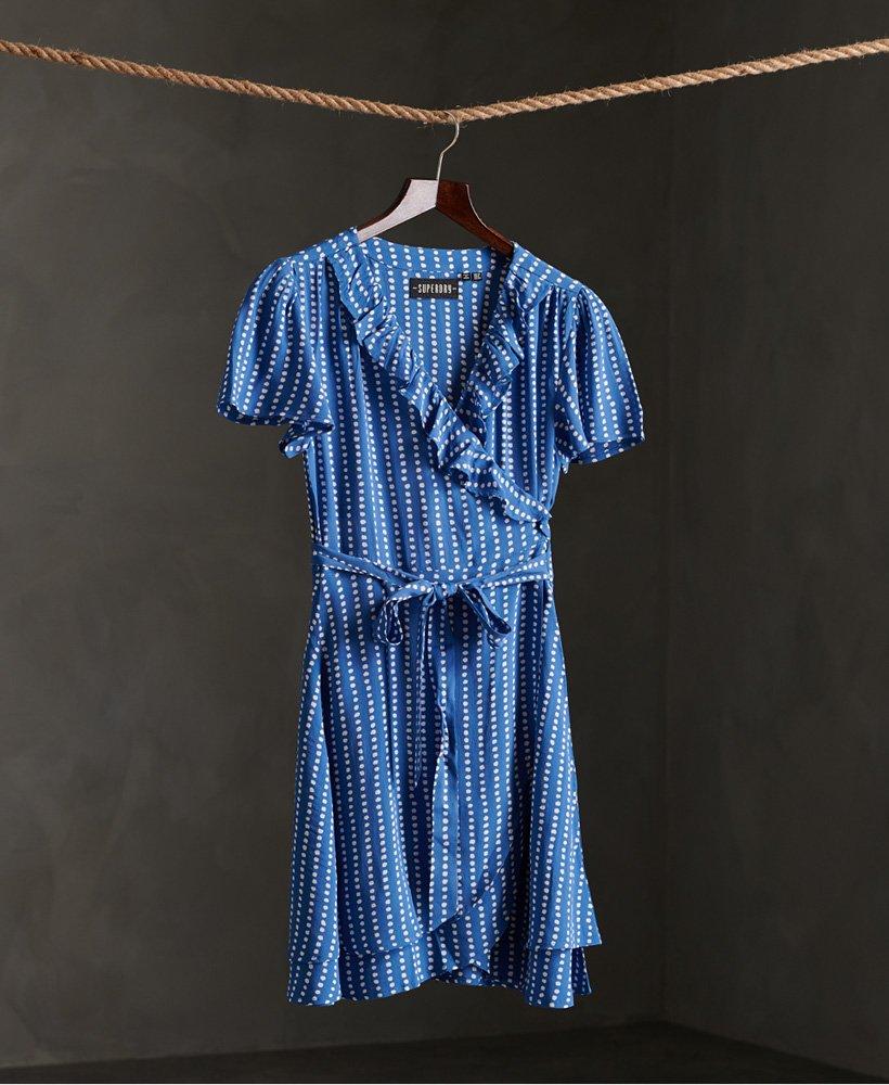 Superdry Sommer Wickelkleid Damen Kleider