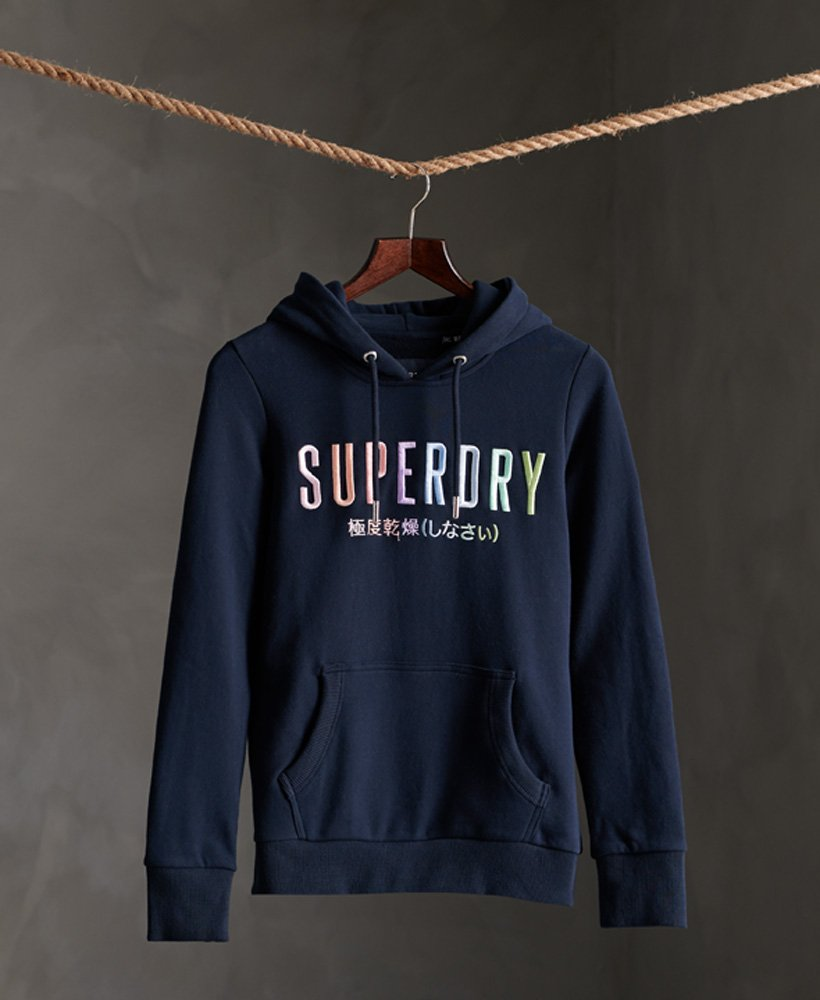 Superdry Super Block Rainbow Loopback Hoodie Damen Hoodies