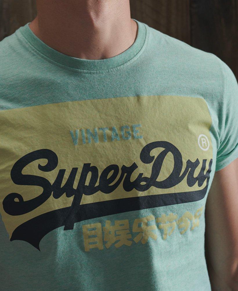Superdry Pastellfarget Vintage Logo T skjorte i økologisk