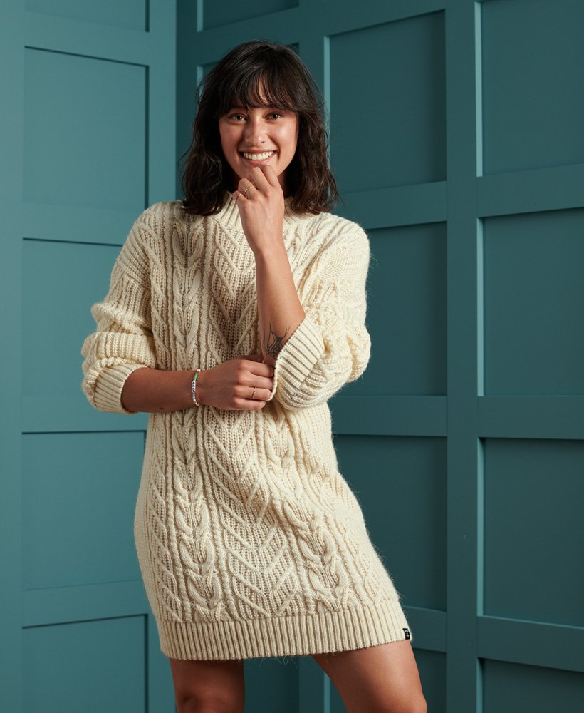 Superdry Florence Cable Knitted Dress