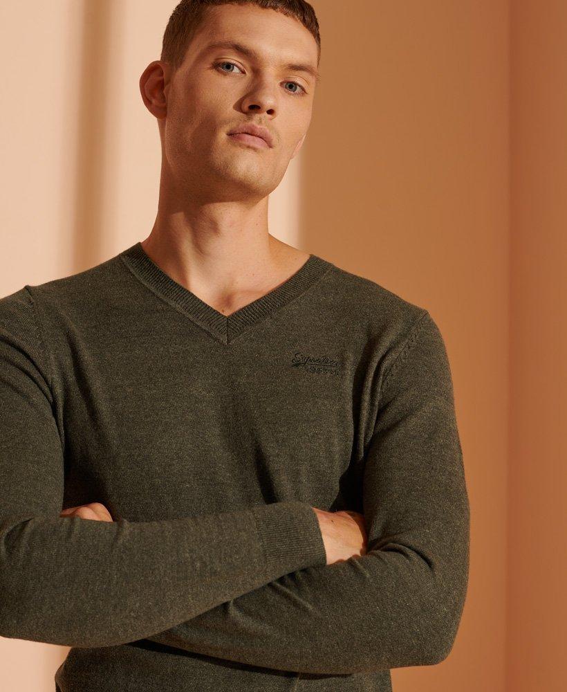 Superdry Orange Label gebreide trui met V hals Trui voor Heren