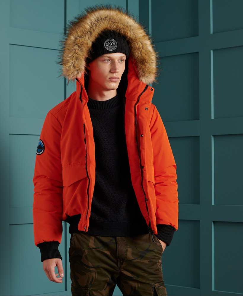 Blouson homme Superdry Everest Bomber rouge orange