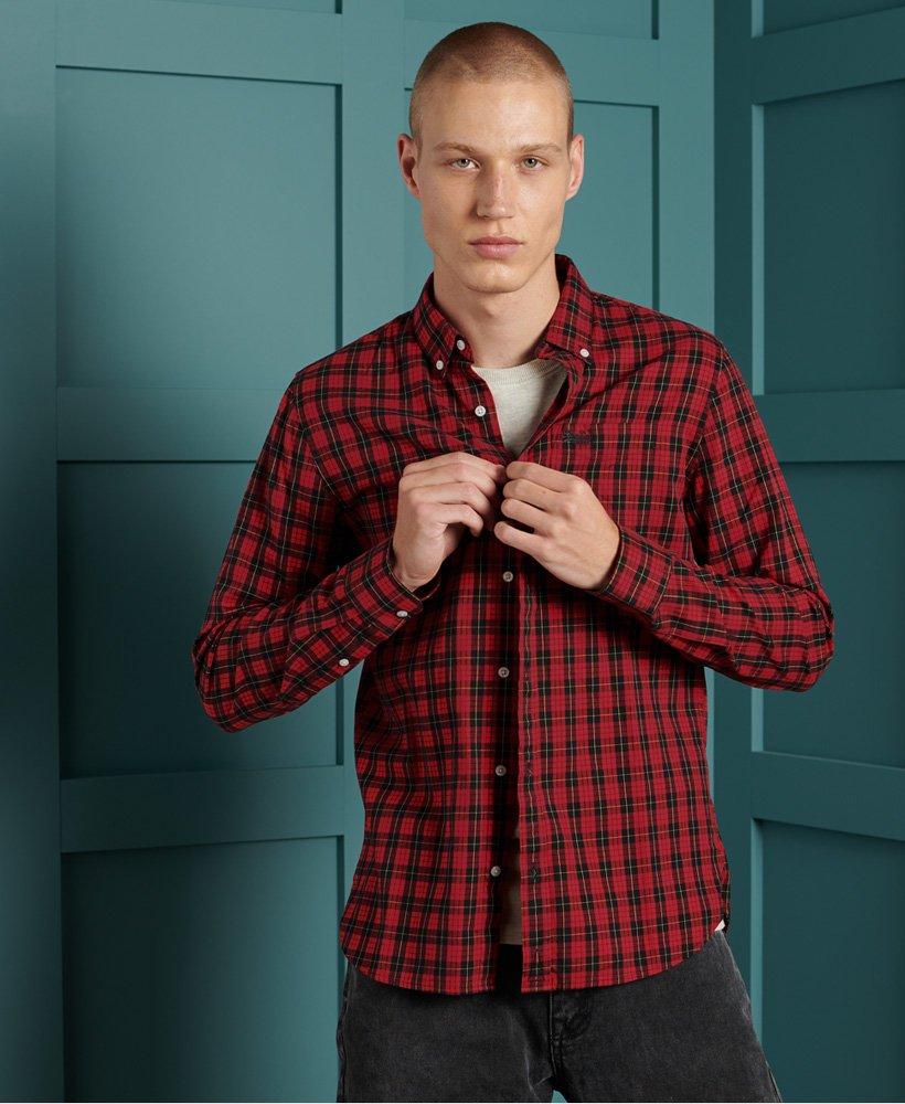 Superdry Klassisk London skjorte med knapper i kragespissene
