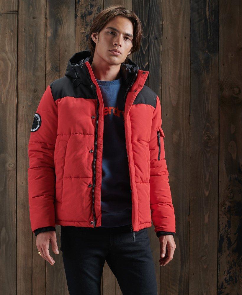 vintage rød jakke herre bomull