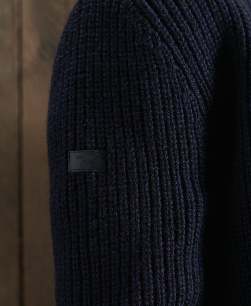 Superdry Mens Downhill Zip Through Cardigan Sweater