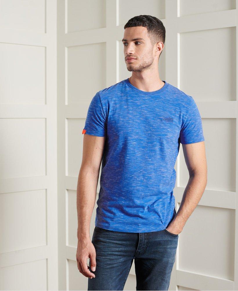 Superdry T-Shirt Hommes Vintage Embroidery Bleu m1000020a 2ss Blue