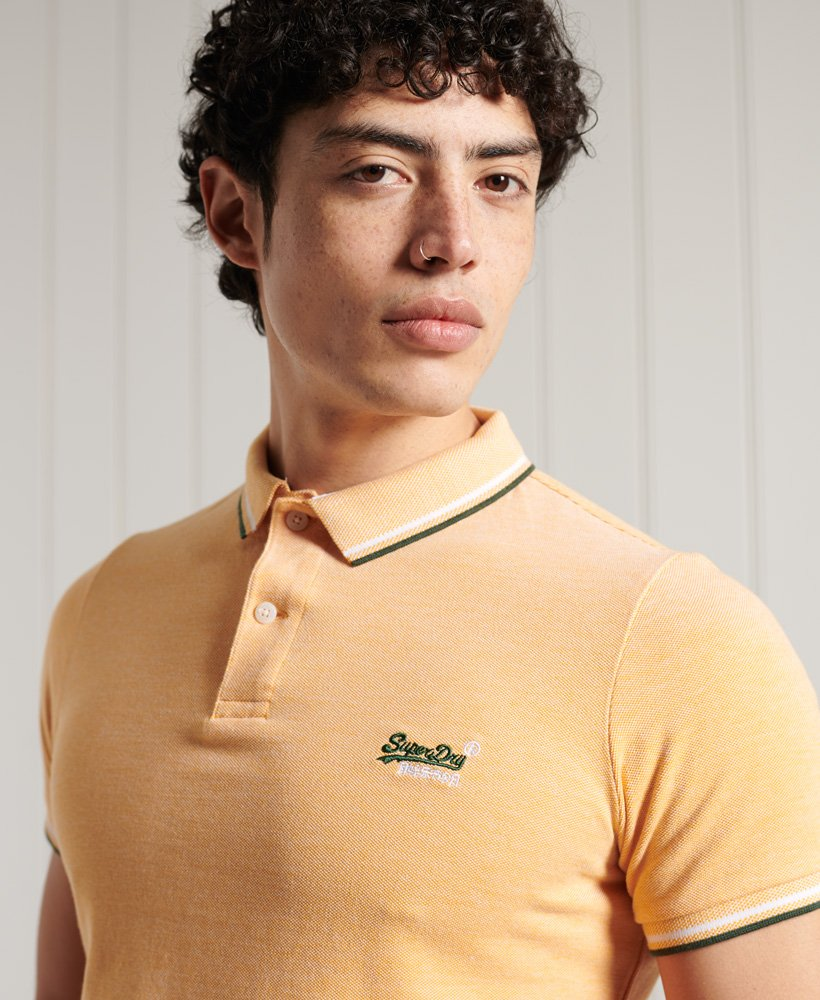 Superdry Mens Super State Champion Organic Cotton Polo Shirt
