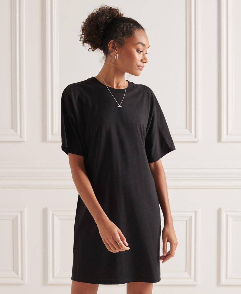 Superdry T Shirt Kleid aus Modal Baumwolle   Damen Kleider