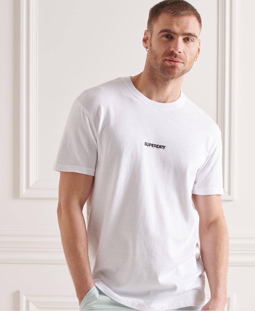 Superdry Micro T-shirt met logo en wijdvallende pasvorm