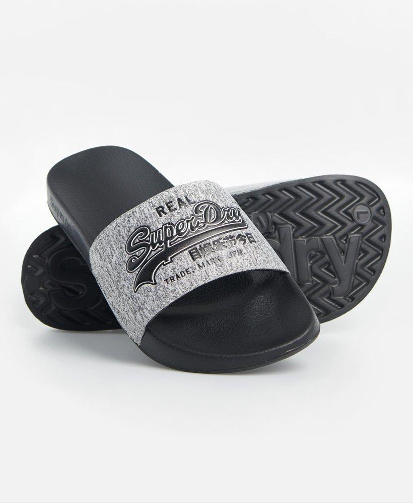 Superdry Mens Vintage Logo Pool Slide Beach /& Pool Shoes