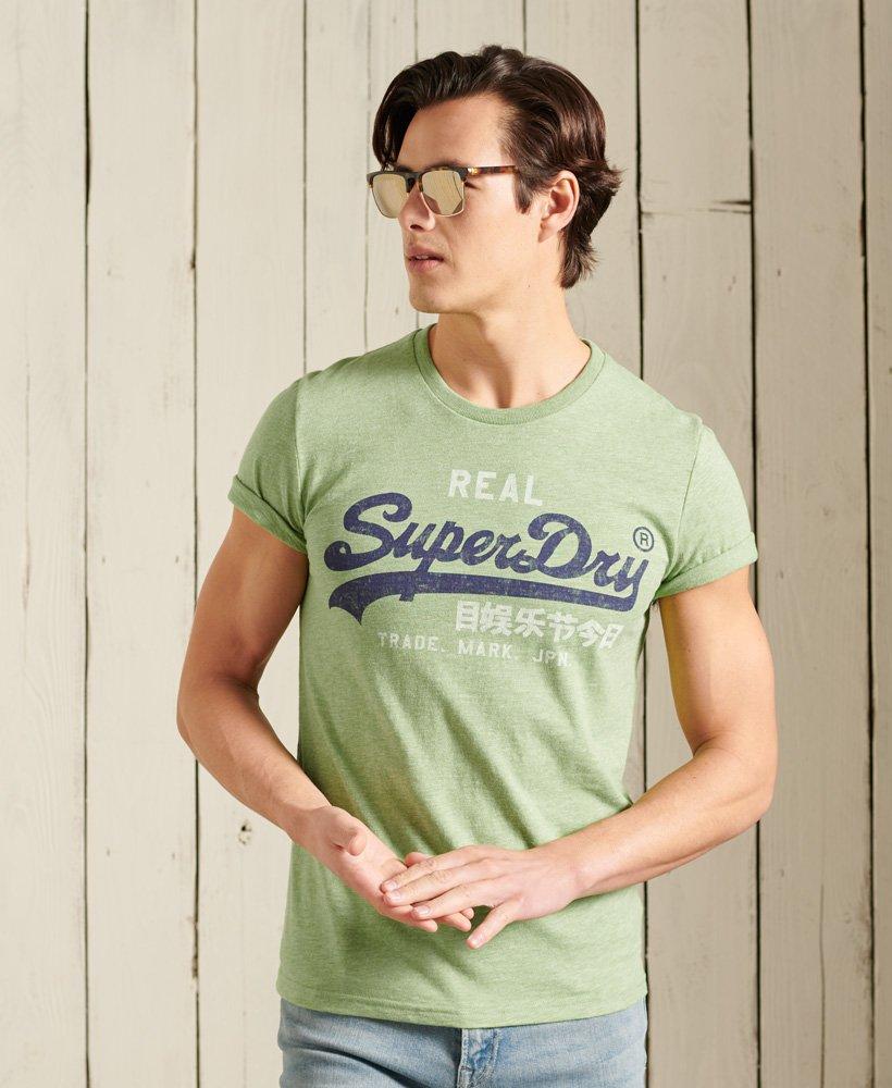 Mens - Vintage Logo Premium Goods T-Shirt in Shamrock Green Grindle | Superdry