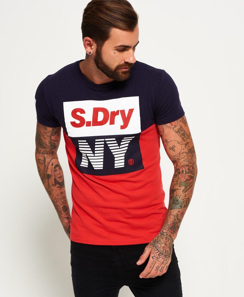 tee shirt sport panel superdry