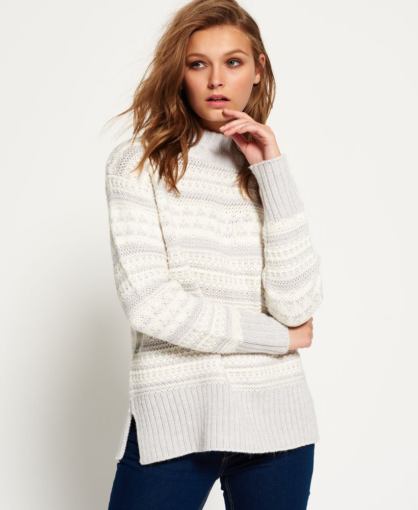 Superdry Nordic Pattern Knit Jumper Womens Last Chance