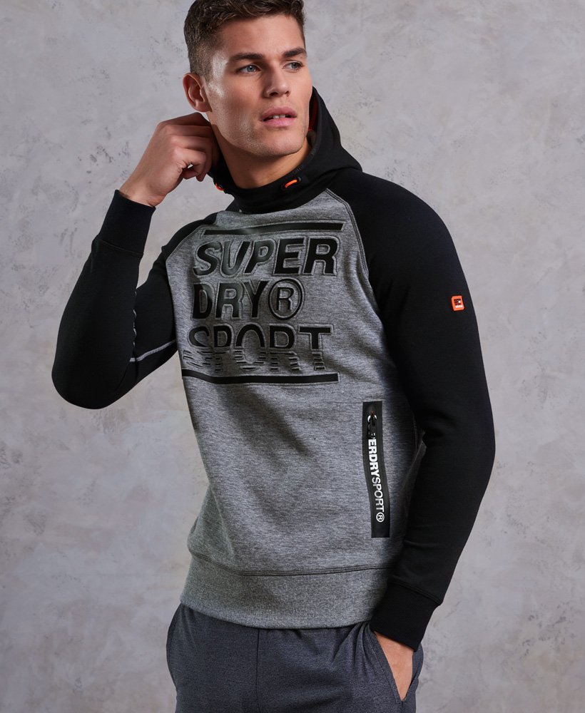 Superdry Sudadera con capucha y estampado en relieve Gym Tech