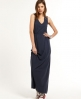 Superdry Lace Panel Maxi Dress Navy