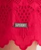 Superdry Broderie Dress Pink