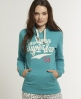 Superdry Applique Hoodie Green