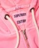Superdry Garment Dyed Zip Hoodie Pink