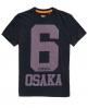 Superdry Osaka 6 Micro Dot T-Shirt Marineblau