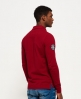 Superdry Classic Long Sleeve Superstate Polo Shirt  Red