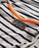 Superdry Nep Stripe Vest Ivory
