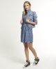 Superdry Pyramid Skater Dress Blue