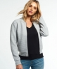 Superdry Micro Quilt Bomber Jacket Light Grey