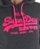 Superdry Vintage Dayglo Hoodie Dark Grey