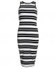 Superdry Starboard Stripe Midikleid Weiß