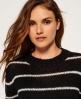 Superdry Maglione in lana mohair a righe Nordic Nero