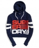 Superdry Sweat à capuche court Shortie Bleu Marine