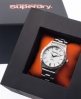 Superdry Infantry Steel Watch White