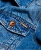 Superdry Embroidered Sleeve Denim Jacket Blue