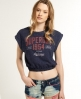 Superdry Cheerleader T-shirt Navy