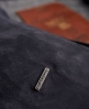Superdry Premium Harrington Wildlederjacke Marineblau