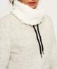 Superdry Top confortable à col cheminée doublé de fausse laine de mouton  Gris Clair