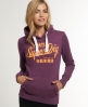 Superdry Ticket Type Hoodie Purple