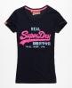 Superdry Vintage Glitter T-shirt Navy