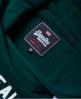 Superdry Vintage Logo Varsity Cropped Hoodie Green