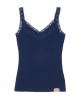 Superdry Lace Rib Vest Top Navy