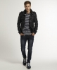 Superdry Ryan Leather Bomber Black