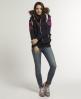 Superdry Fur Hooded Sherpa Gilet Black