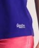 Superdry Embroidered Pocket Tank Purple