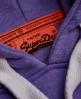 Superdry Vintage Logo Side Fade Hoodie  Purple