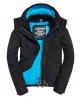 Superdry Cazadora cortaviento con capucha y cremallera Pop Zip Arctic Negro