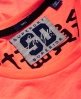 Superdry T-shirt coupe droite Osaka 6 Fluro Coral