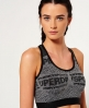 Superdry Gym Seamless BH  Grau